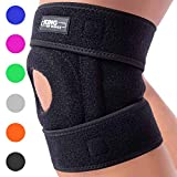 Patella Stabilizing Knee Brace for Women, Men, Meniscus Tear, Arthritis Pain and Support, Acl, Running, MCL, Tendonitis, Runners, Athletic, Stabilizer, LCL - Adjustable Neoprene Open Knee Sleeve