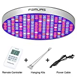 50W LED Grow Light with Remote Controller, FAMURS UFO 250 LEDs Full Spectrum Indoor Plants Grow Lamp, for Hydroponic, Greenhouse, Succulents, Flower, Seedling Growing