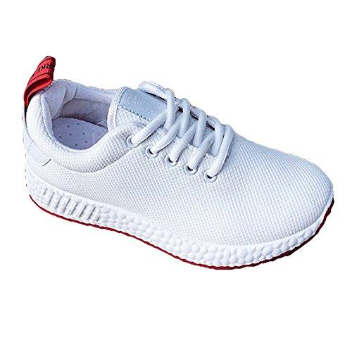 Donna Vintage da Tempo Ginnastica Low Flats da Sneakers Scarpe da Donna Piattaforma Lace per Scarpe Palestra Top Il Libero Corsa da Traspirante Dingcaiyi da Moda Passeggio Outdoor Up afq1ZvXnw