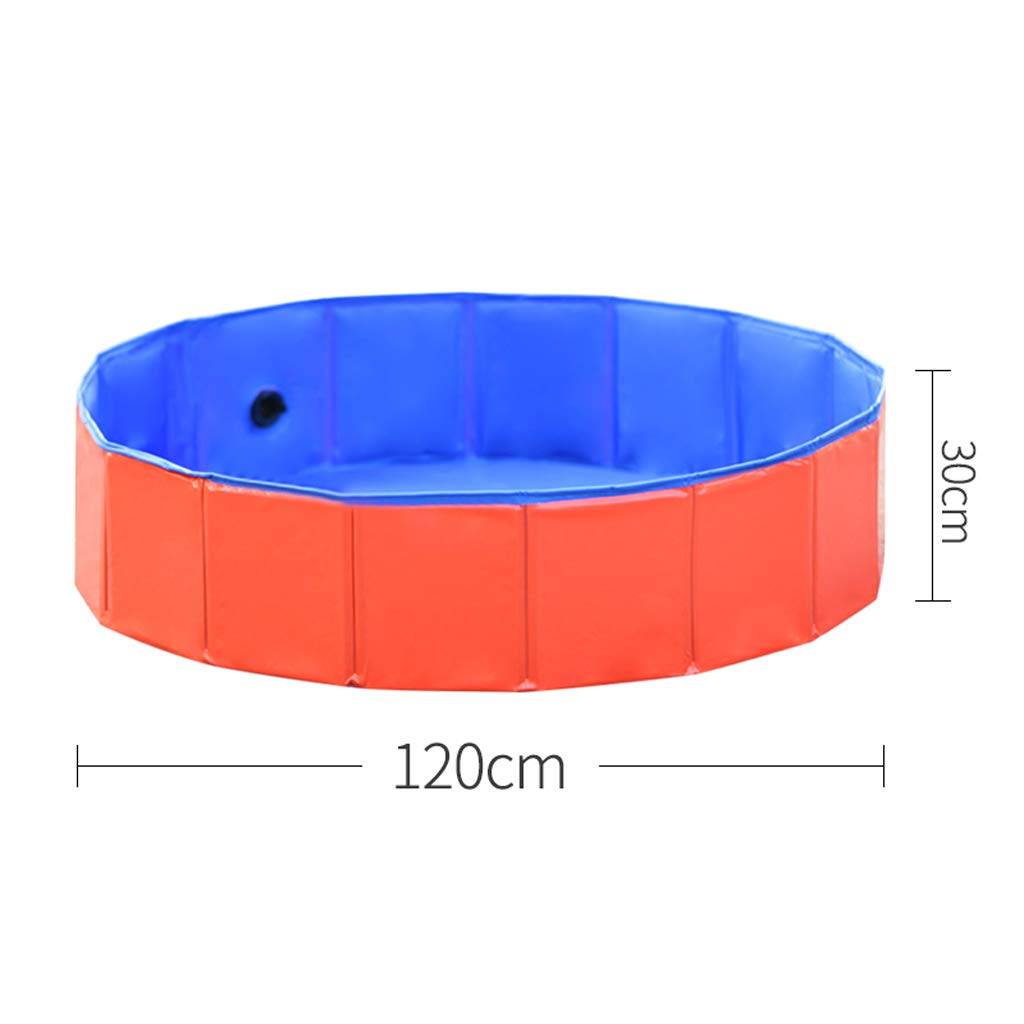 120x30cm Dog bath tub collapsible tub pet dog medicine tub tub Teddy golden Retriever large dog swimming pool 120x30cm
