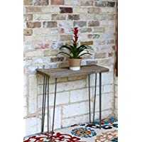 Industrial 30 Inch Natural Accent Table