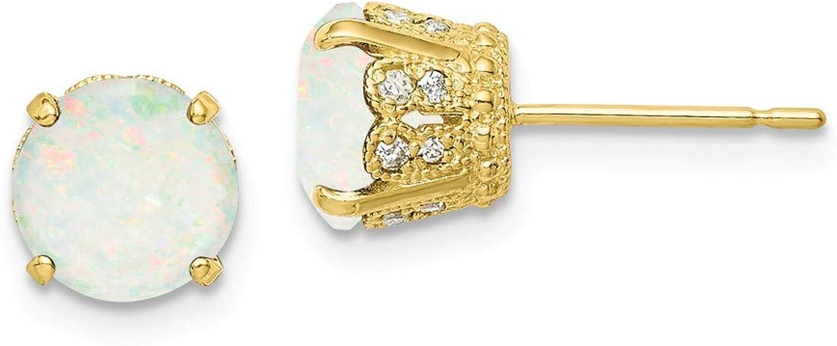 Mia Diamonds 10k Rose GoldRose Gold Textured Polished Hoop Earrings