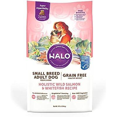 Halo Grain Free Natural Dry Dog Food, Small Breed Wild Salmon & Whitefish Recipe