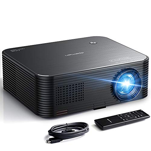 "Projector, APEMAN 6000lux Native 1080P HD 4K Video Projector, 300"" Display, Electronic Keystone Correction, 50000hrs Lamp Life, TV Box/Smartphone/Notebook Compatible,for Business Presentation"