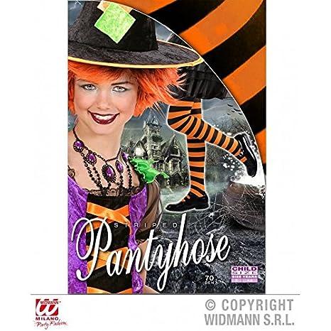 Collant arancione nero strisce per bambini di 4-6 Anni per Carnevale    Halloween   Costume da strega   Costume per bambini   Costume Halloween   Amazon.it  ... 714d1a09525a