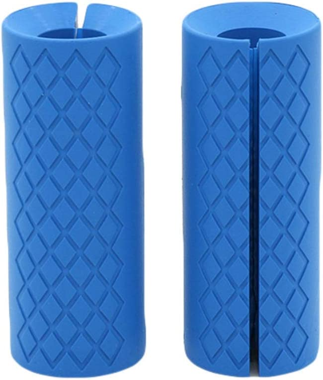 Blanchel Weightlifting Support Silicone Non-slip Protection Pad Dumbbell Barbell Grip Thick Stick Fat Handle Pull up Fitness Accessories