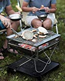 Snow Peak Takibi Fire and Grill, ST-032SET, Made in Japan, Stainless Steel, Lifetime Product Guarantee