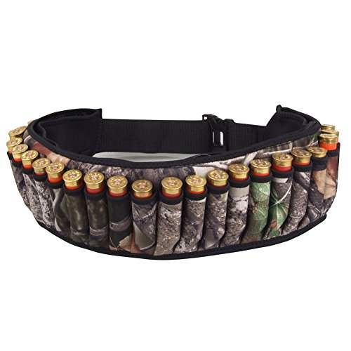 OneTigris 27 Round Camo Adjustable Hunting Shotgun Shell Holder Ammunition Carrier Belt (1)