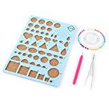 Lavenz DIY Paper Craft Template Board+Tweezer+Pins+Slotted Pen Quilling Tools Kit Mould Papercraft DIY Crimper Art Tool Scrapbooks
