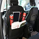 TabEnter Car Seat Back Organizer Protectors Kick Mats Backseat For Kids and Toddlers with ipad Holder - 2 Pack