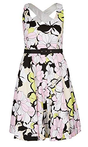 Designer Plus Size DRESS ETCHED FLORAL - Ivory - 24 / XXL | City Chic
