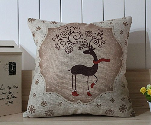 Deer Merry Christmas 2014 Best Gift Christmas EIK Linen Pillow Case