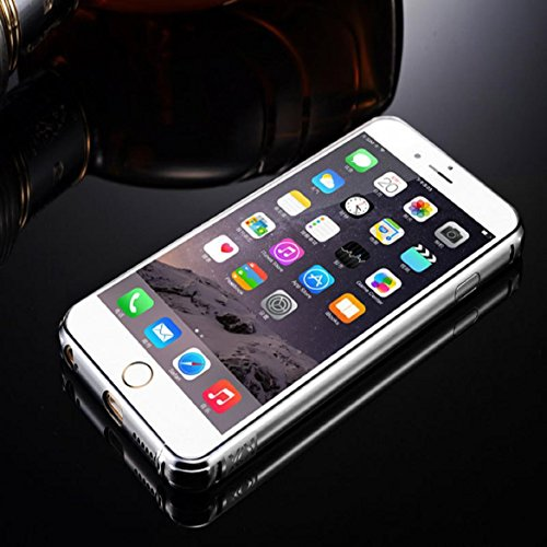 Sankuwen® Case for Iphone 6 Plus,2015 Ultra-thin Luxury Aluminum Metal Mirror Case Cover for Iphone 6 Plus (Silver)