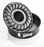 Zenker 6506 Springform With Flat and Tubular Base, Black/Metallic, 7.09''