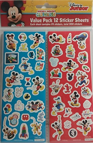 Mouse Mickey Clubhouse Sheets (Disney Junior Mickey Mouse Clubhouse 12 Sticker Sheets Party Favors)