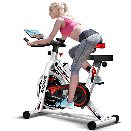 HARISON Pro Indoor Cycling Bike Belt Drive Stationary Exercise Spin Bike for Home use (with cusion)
