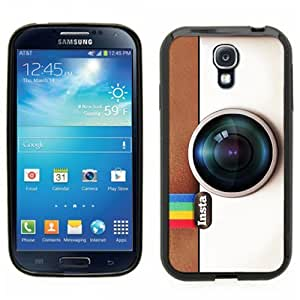Samsung Galaxy S4 SIIII Black Rubber Silicone Case - Instagram Camera Hipster Cool Insta style camera