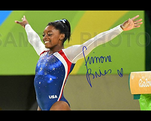 Simone Biles Rio Olympic Gold Medal 8X10 Signed Photo Reprint