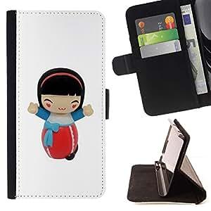 Momo Phone Case / Flip Funda de Cuero Case Cover - Muchacha de la historieta Figurita Carácter - Sony Xperia Z1 L39