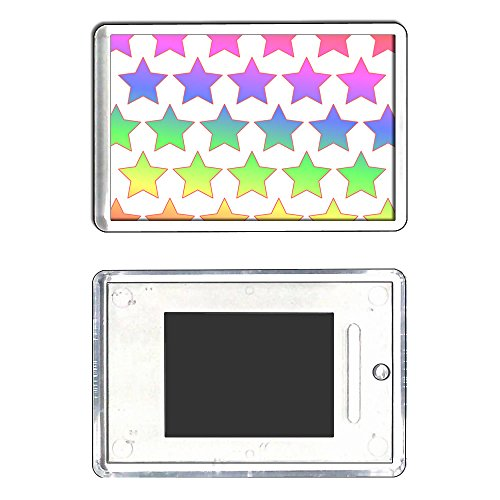 rainbow-star-pattern-square-plastic-fridge-magnet