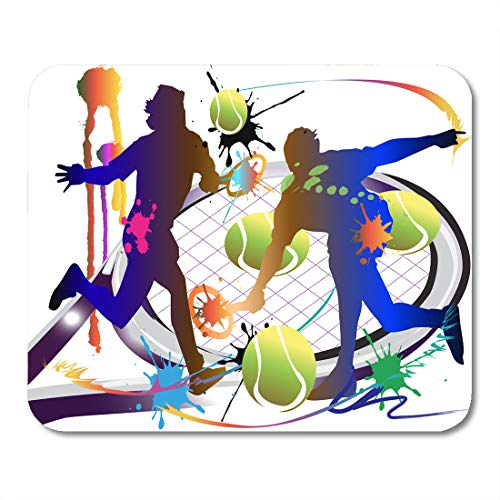 Emvency Mouse Pads Racket Tennis Sport Action Active Activity Artist Ball Champions Mousepad 9.5