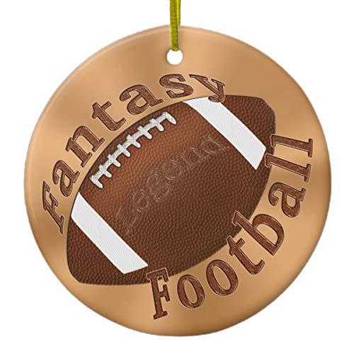 Legend Fantasy Football Xmas Trees Home Decorated Ceramic Ornaments Porcelain Ornament Personalize Souvenir ()