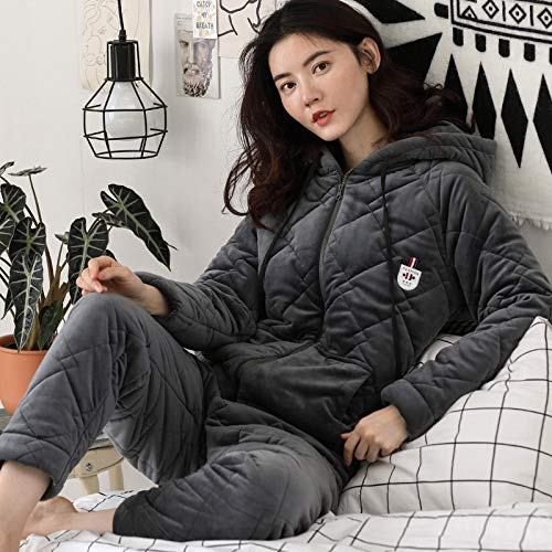 Three Cute 47 layer 164cm Winter Velvet Thick Ladies 57kg Outside L158 M150 50kg Wear And Can Quilted 30 Warm 162cm Autumn Plus Clothing Pajamasx Coral Pajamas Suits x1qvzYwp