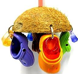 Bonka Bird Toys 1784 Coco Croc Bird Toy parrot cage toys african grey cockatoos amazon conures