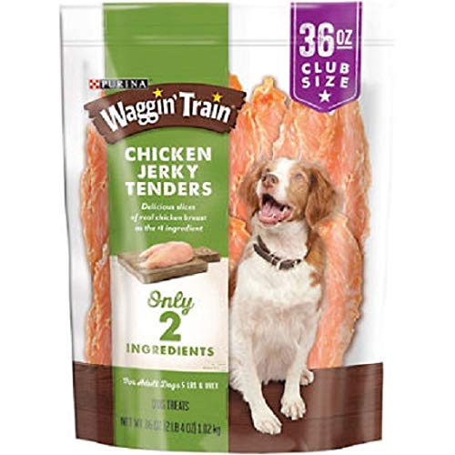Purina Waggin' Train 100% Real Chicken Jerky Tenders Dog Treats - 2 Pack: 2.25 lbs (36 oz.) each