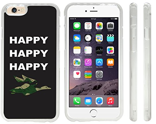 Rikki KnightTM Happy Happy Happy Combat green Duck Design iPhone 6 Case Cover (Clear Rubber with front bumper protection) for Apple iPhone 6