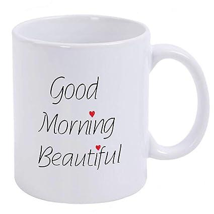 Amazoncom Funny Mug Good Morning Beautiful 11 Oz Ceramic Coffee