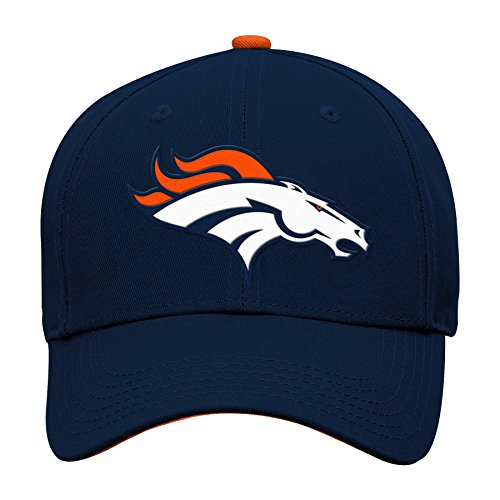 NFL Denver Broncos Boys 47 Basic Structured Adjustable Hat, Orange, 1 Size