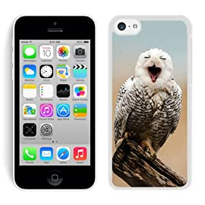 iPhone 5C Case,Excellent protection Snowy Owl Animal Mobile Wallpaper White For iPhone 5C Case