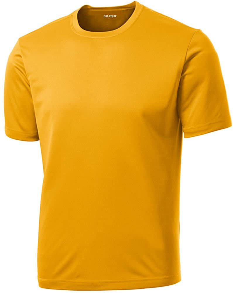 DRIEQUIP Men's Big & Tall Short Sleeve Moisture Wicking Athletic T-Shirts