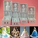 CHENGYIDA One Set Cake Fondant Cutter Mold Decorating Baking tool 3D Family Fondant Modelling Sugarcraft Tool (Mom and Dad 2 Children)