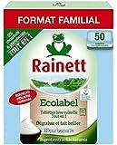 Rainett Lave Vaisselle Tout en 1 Ecologique 50 Tablettes - Lot de 2