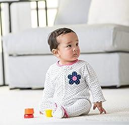 Gerber Baby-Girls Zip Front Sleep \'N Play, Flowers, 3-6 Months (Pack of 2)