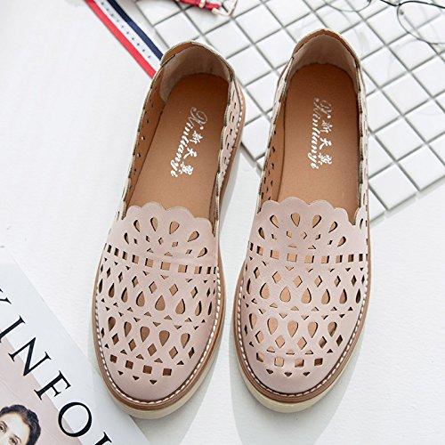 XY&GKDonna Sandali Baotou All-Match cava studente coreano scarpe scarpe traspiranti Testa, 38, bianco,con il migliore servizio 36Pink