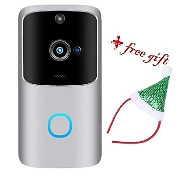 Amazon.com: Cámara de vídeo inalámbrica para timbre de ...
