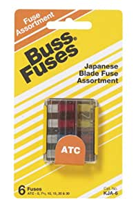 Bussmann KJA-6 Japanese Car Blade Fuse Assortment