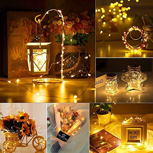 Twinkle Star 200 LED 66ft Fairy Copper String Lights USB & Adaptor Powered, Dimmable Control Starry String Lights Home… 2