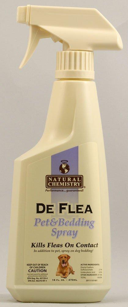 NATURAL CHEMISTRY SPRAY PET FLEA & BEDDING, 16 OZ