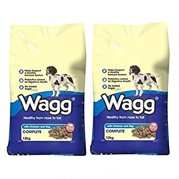Wagg Multi Buy Dog Food Chicken And Veg 2 X 12kg Amazon Co Uk