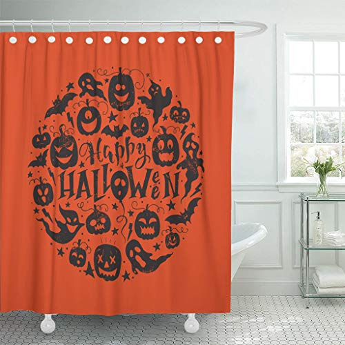 Ladble Waterproof Shower Curtain Curtains Saying Hand Lettering