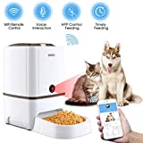Iseebiz Automatic Cat Feeder Pet Feeder 6L Automatic Dog Feeder Food Dispenser Features:Wi-Fi Camera Time and Meal Size Programmable Recorder APP Control Up to 6 Meals a Day for Medium and Large Pet