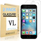 [2 PACK] iPhone 6/6S Screen Protector, VL [Tempered Glass] [Bubble-Free] [Anti-Scratch] Ultra Thin 9H Hardness High Definition Premium Tempered Glass Screen Protector for iPhone 6/6S (For iPhone 6/6S)