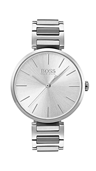 Hugo BOSS Reloj Análogo clásico para Mujer de Cuarzo con Correa en Acero Inoxidable 1502414: Amazon.es: Relojes