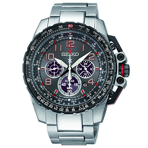 Seiko Men's SSC315 Analog Display Analog Quartz Silver Watch
