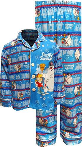 Frosty the Snowman Little Boys' Frosty the Snowman Christmas Pajama Set, Blue, 4/5