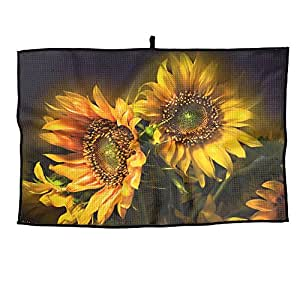 Sunflower Unisex Casual Portable Golf Towel Sports Towel 38X60cm